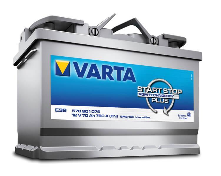 Bình Ắc quy ô tô Varta 70Ah 80D23R